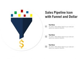Sales Pipeline Icon With Funnel And Dollar