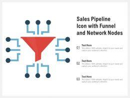 Sales Pipeline Icon With Funnel And Network Nodes