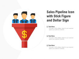 Sales Pipeline Icon With Stick Figure And Dollar