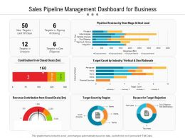 Sales Pipeline Management Dashboard For Business