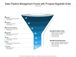 Sales Pipeline Management Funnel With Prospect Negotiate Order