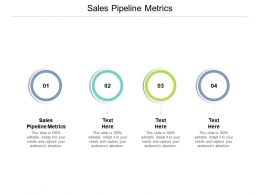 Sales Pipeline Metrics Ppt Powerpoint Presentation Outline Model Cpb