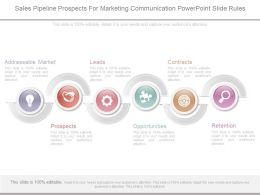 Sales Pipeline Prospects For Marketing Communication Powerpoint Slide Rules