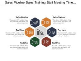 Sales Pipeline Sales Training Staff Meeting Time Management