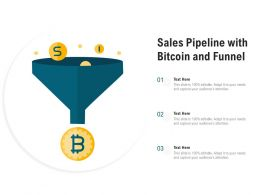 Sales Pipeline With Bitcoin And Funnel