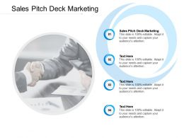 Sales Pitch Deck Marketing Ppt Powerpoint Presentation Portfolio Styles Cpb