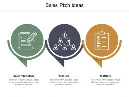 Sales Pitch Ideas Ppt Powerpoint Presentation Layouts Ideas Cpb
