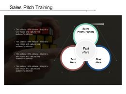 Sales Pitch Training Ppt Powerpoint Presentation Icon Template Cpb