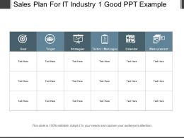 Sales Plan For It Industry 1 Good Ppt Example