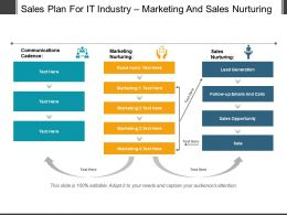 Sales Plan For It Industry Marketing And Sales Nurturing Sample Of Ppt