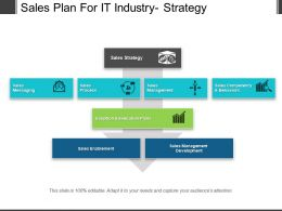 Sales Plan For It Industry Strategy Powerpoint Images