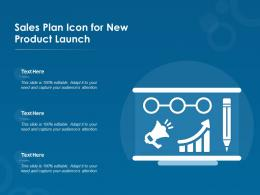 Sales Plan Icon For New Product Launch