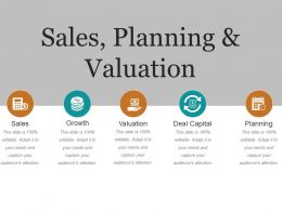 Sales Planning And Valuation Presentation Images