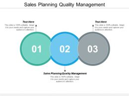 Sales Planning Quality Management Ppt Powerpoint Presentation Inspiration Display Cpb