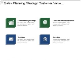 Sales Planning Strategy Customer Value Proposition Sales Forecasting