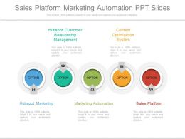 Sales Platform Marketing Automation Ppt Slides