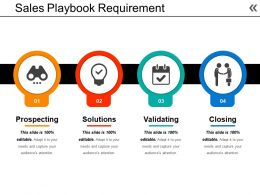Sales Playbook Requirement Powerpoint Shapes