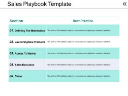 Sales Playbook Template Powerpoint Slide Background