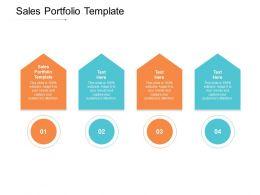 Sales Portfolio Template Ppt Powerpoint Presentation Model Inspiration Cpb