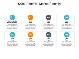 Sales Potential Market Potential Ppt Powerpoint Presentation Icon Information Cpb