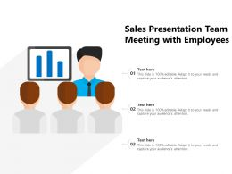 Sales Presentation Team Meeting With Employees