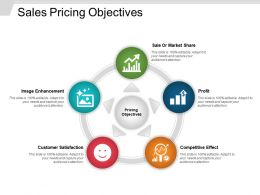 Sales Pricing Objectives Powerpoint Graphics