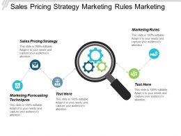 Sales Pricing Strategy Marketing Rules Marketing Forecasting Techniques Cpb