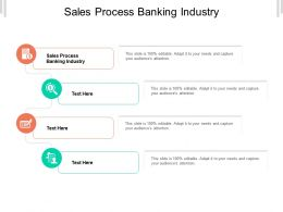 Sales Process Banking Industry Ppt Powerpoint Presentation Infographic Template Cpb