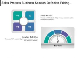 Sales Process Business Solution Definition Pricing Presented Customer