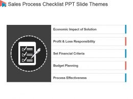 Sales Process Checklist Ppt Slide Themes