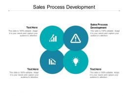 Sales Process Development Ppt Powerpoint Presentation Icons Cpb