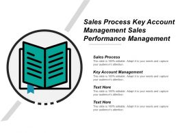 Sales Process Key Account Management Sales Performance Management