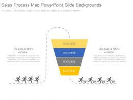 Sales Process Map Powerpoint Slide Backgrounds