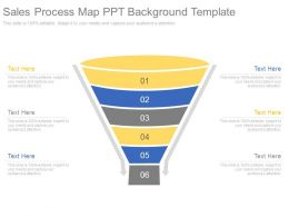 Sales Process Map Ppt Background Template