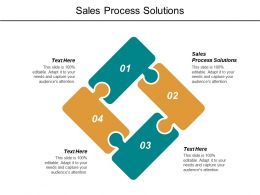 Sales Process Solutions Ppt Powerpoint Presentation File Icons Cpb