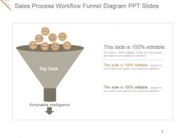 Sales Process Workflow Funnel Diagram Ppt Slides