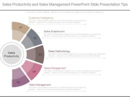 Sales Productivity And Sales Management Powerpoint Slide Presentation Tips