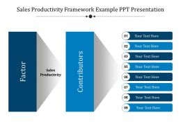 Sales Productivity Framework Example Ppt Presentation