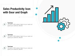 Sales Productivity Icon With Gear And Graph