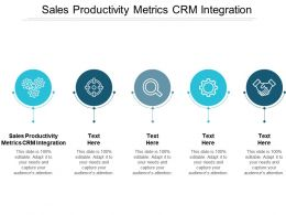 Sales Productivity Metrics CRM Integration Ppt Powerpoint Presentation Model File Formats Cpb