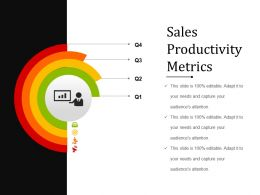 Sales Productivity Metrics Powerpoint Templates
