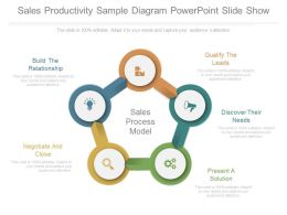 Sales Productivity Sample Diagram Powerpoint Slide Show