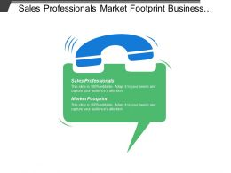 Sales Professionals Market Footprint Business Potential Investment Individuals Development