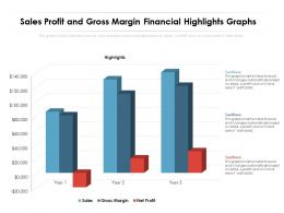 Sales Profit And Gross Margin Financial Highlights Graphs