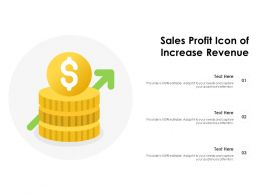 Sales Profit Icon Of Increase Revenue
