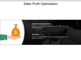 Sales Profit Optimisation Ppt Powerpoint Presentation Inspiration Visuals Cpb