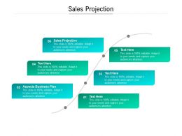 Sales Projection Ppt Powerpoint Presentation Show Gallery Cpb