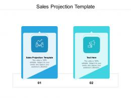 Sales Projection Template Ppt Powerpoint Presentation Professional Example File Cpb