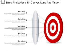 Sales Projections Bi Convex Lens And Target