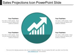 Sales Projections Icon Powerpoint Slide